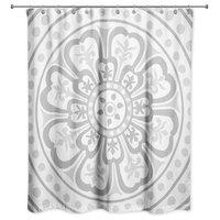 Medallion Shower Curtain, Gray