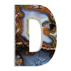 18'' Oversized Geode Slice Hanging Initial,  D