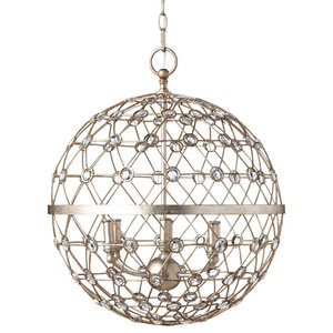 "Park Harbor PHPL5216 6 Light 20-1/4"" Wide Taper Candle Globe Chandelier with Cr"