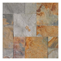California Gold Slate Versailles Pattern Pavers, 8 Sq. ft.