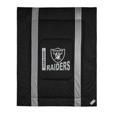 NFL Oakland Raiders Twin Comforter Sidelines Football Bed