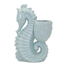 Seahorse Ceramic Planter Patio and Garden 13525