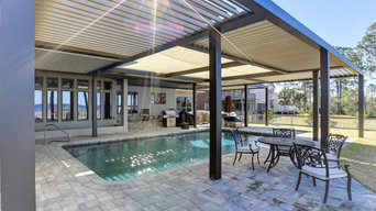 Poolside Patio Motorized Roof