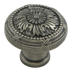 Stone Mill Hardware Weathered Nickel Floral Cabinet Knob