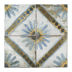 "17.63""x17.63"" Royals Marrakech Ceramic Floor and Wall Tile, Blue, Set of 5"