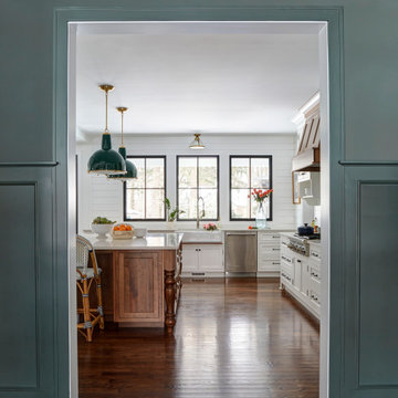 Libertyville Custom Farmhouse Dining Room to Kitchen