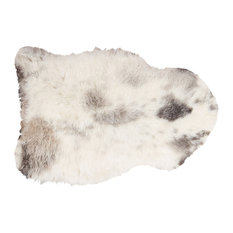 Sheepskin Short-Haired Single Area Rug 2' X 3', Spotted