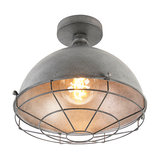 Industrial Ceiling Lamp Antique Silver 32cm - Course