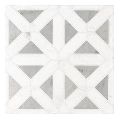 Bianco Dolomite Geometrica Pol, Polished, Marble,