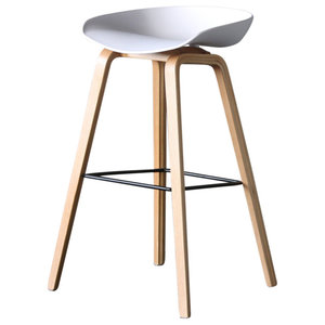 Shoreditch Bar Stool, White, 75 cm
