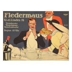"""""""Fledermaus Vintage Poster Germany 1914"""" Print, 12""""x18"""""""