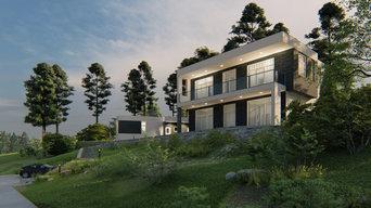 Дом из газобетона в современном стиле