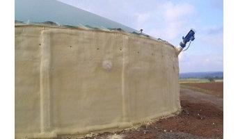 Sprühdämmung für Biogasanlagen