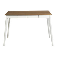 Montreal Writing Desk, Natural and White