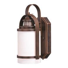 Weston Bronze Motion Sensor Dusk to Dawn Outdoor Wall Light