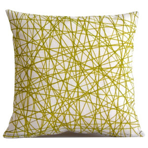Green Scribble Cushion, 40x40 cm