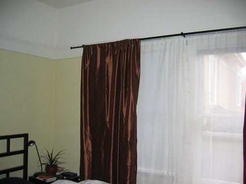 What Color Drapes Would You Hang Against These Green Walls
