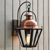 Case Sconce, Bronze & Antique Copper finish