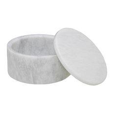 Eirenne Collection Marble Keepsake Box, Cloudy White