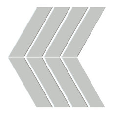 "Shape Gray ON 9""x13"" Porcelain Mosaic Tile, Set of 20"