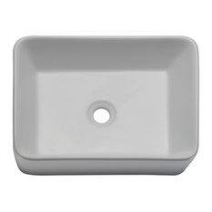 Gemma Above-Counter Rectangular Lavatory Sink, White