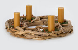 Driftwood Advent Wreath Candleholder