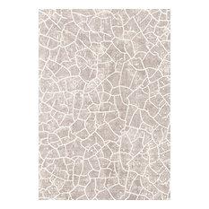 Something Ecru Casa Tiled Floor Rug, 140x200 cm