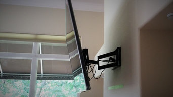 Flat Panel Television w/ Articulating Mount Installation