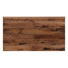 "5.91""x82.68"" Engineered Hardwood Flooring-European Oak, Set of 8, Tabacco"