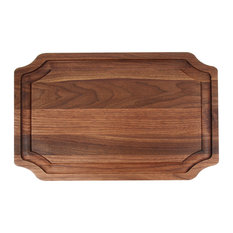 """BigWood Boards Large Scalloped Carving Board with Juice Well, Walnut, 15"""" x 24"""""""