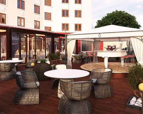 restaurant garden exterior design concept