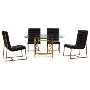 Enjoyable Aico 21 Cosmopolitan 6 Piece 54 Top Round Diningroom Set Creativecarmelina Interior Chair Design Creativecarmelinacom
