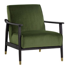 Sunpan Kellam Chair, Moss Green Fabric