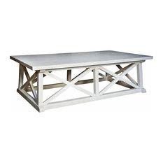 Luc Coastal Beach White Wash Coffee Table Tables