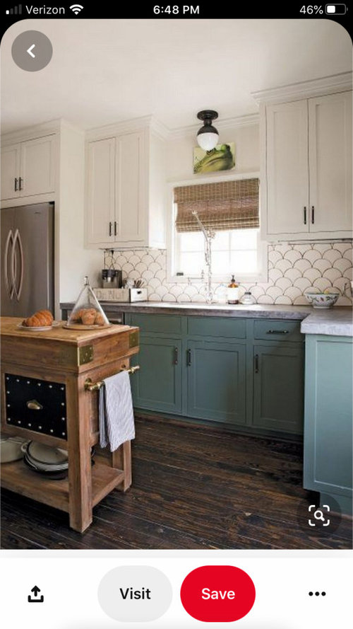 White And Teal Kitchen Cabinets Paint Color