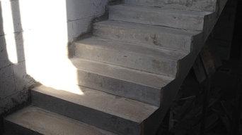 П-образная лестница на 2 этаж с площадкой