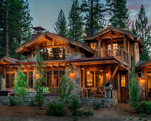 Vacation log home home design ideas renovations photos for Vacation log homes