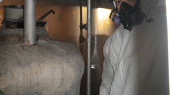 Preperation of removal of asbestos
