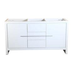 "Fresca Allier 60"" White Modern Double Sink Bathroom Cabinet"