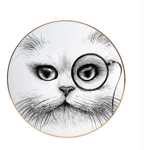 Cat Monocle Plate, Small