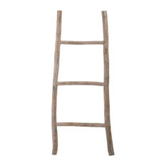 Wood White Washed Ladder, Small