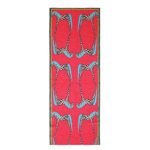 Zebra Reflection Wool Rug, 95x300 cm