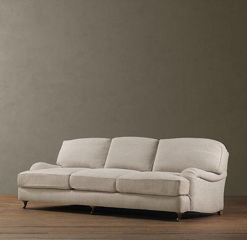 Extra Deep English Roll Arm Sofa