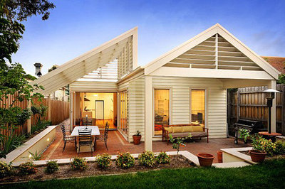 So you live in a weatherboard house for Modern weatherboard home designs