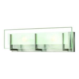 "Hinkley Latitude 2-Light Brushed Nickel Vanity, 18""x5.75"""