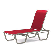 Aruba II 4-Position Armless Chaise, Textured Warm Gray, Red