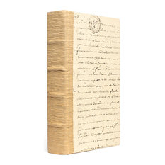 Single Solid Recycled Bark Book