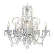 10 Piece Set Murano Venetian Style Authentic All Crystal Chandelier