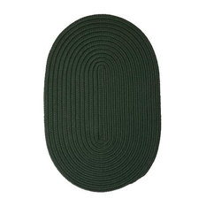 Colonial Mills, Inc - Colonial Mills Boca Raton BR64 Dark Green 11' x 14' Oval - Outdoor Rugs