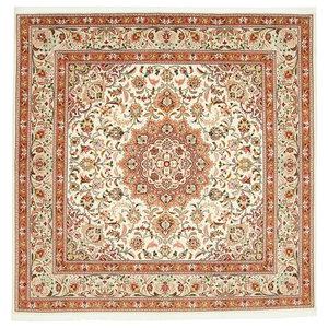 Tabriz 50Raj Oriental Rug, Square Hand-Knotted, 200x196 cm